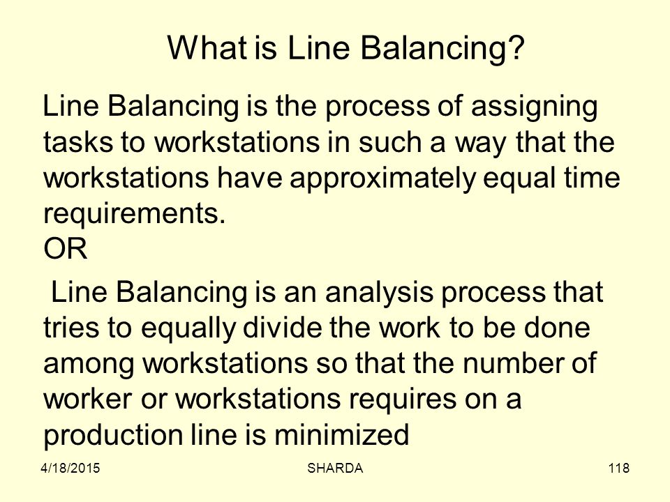 What is Line Balancing