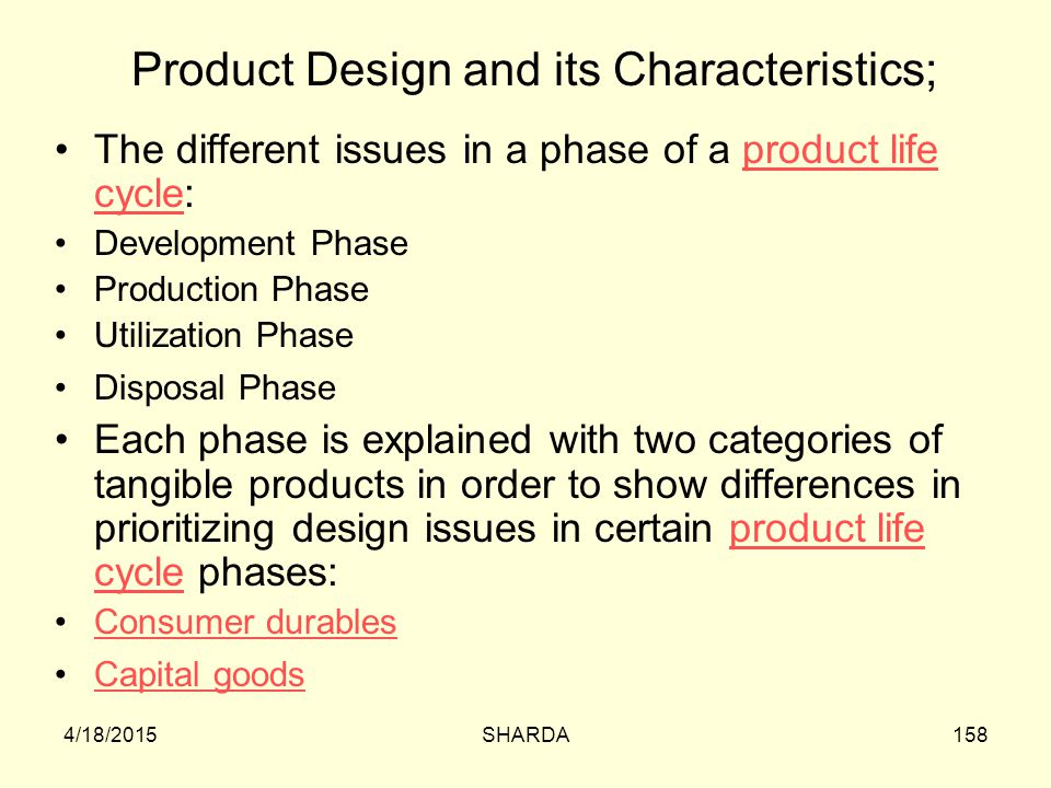 Product Design and its Characteristics;