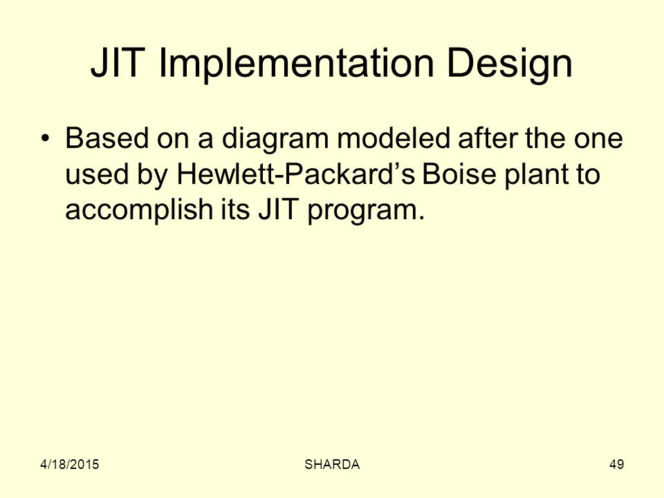 JIT Implementation Design