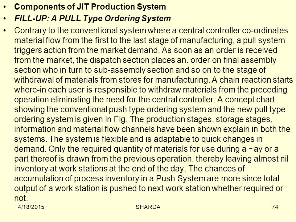 Components of JIT Production System