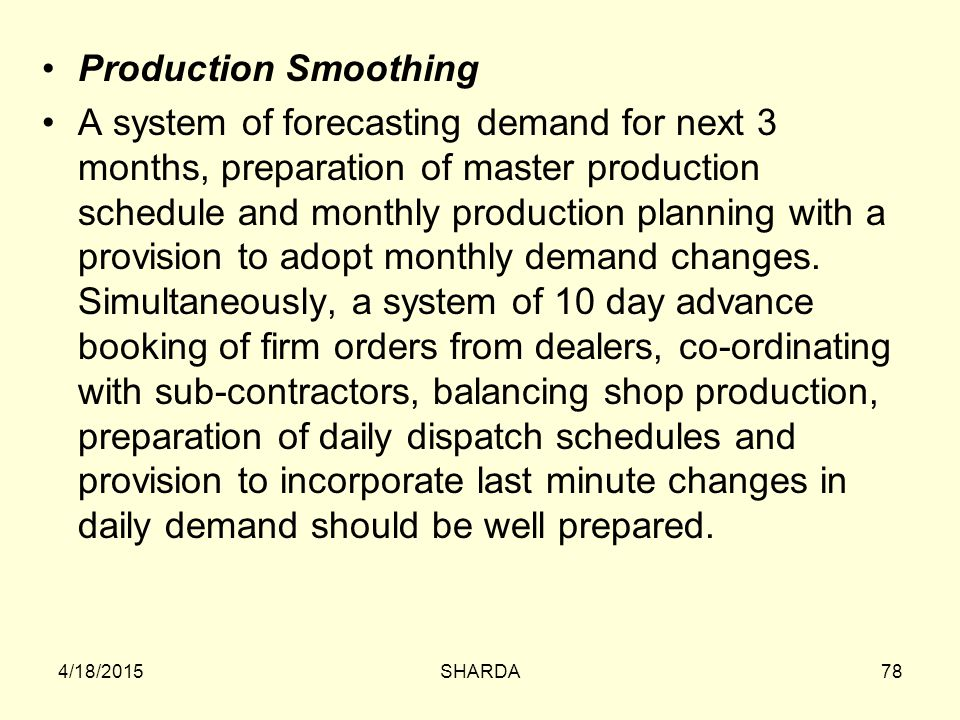 Production Smoothing