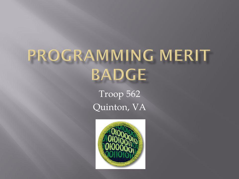 Programming Merit Badge