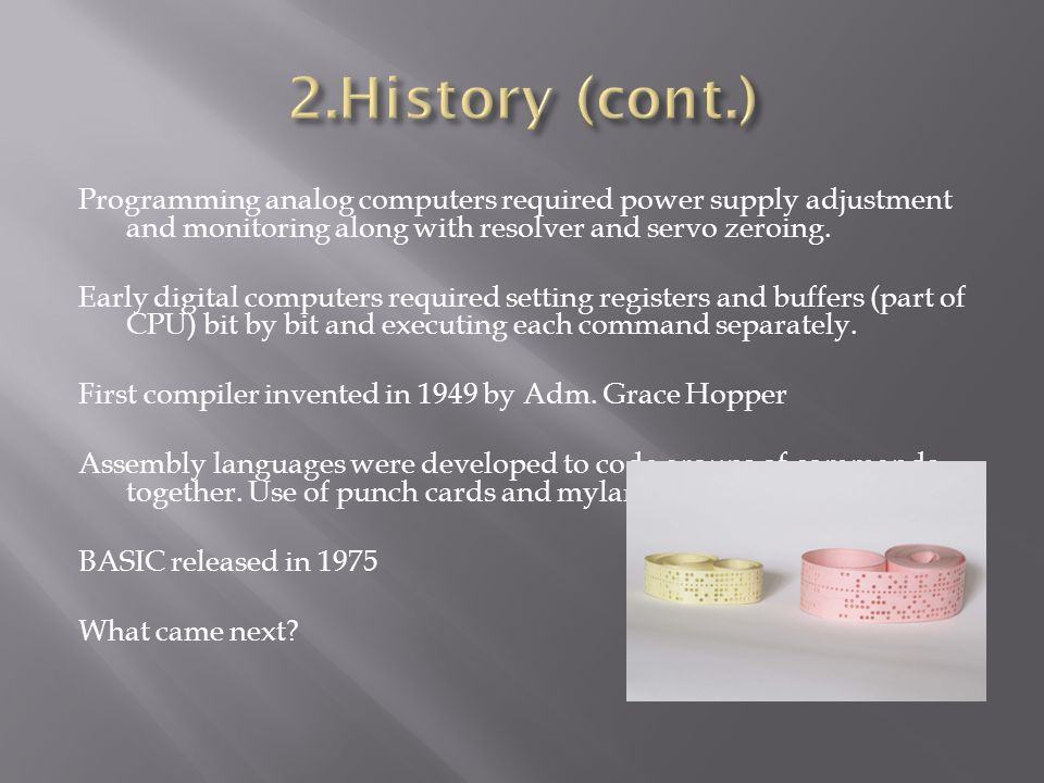 2.History (cont.)