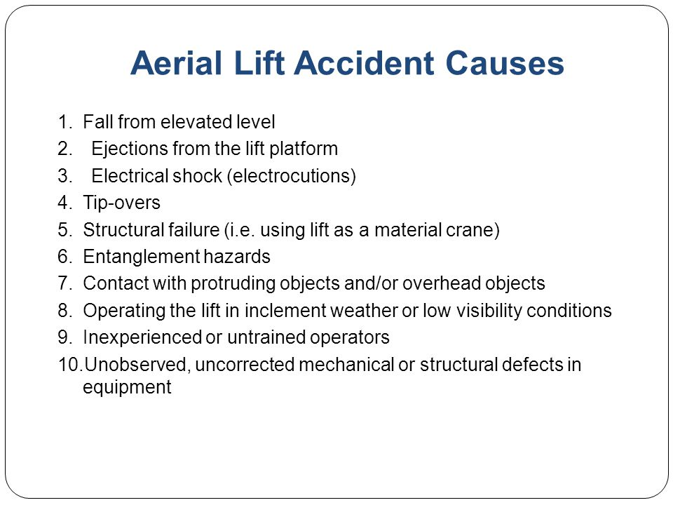 Aerial Lift Accident Causes