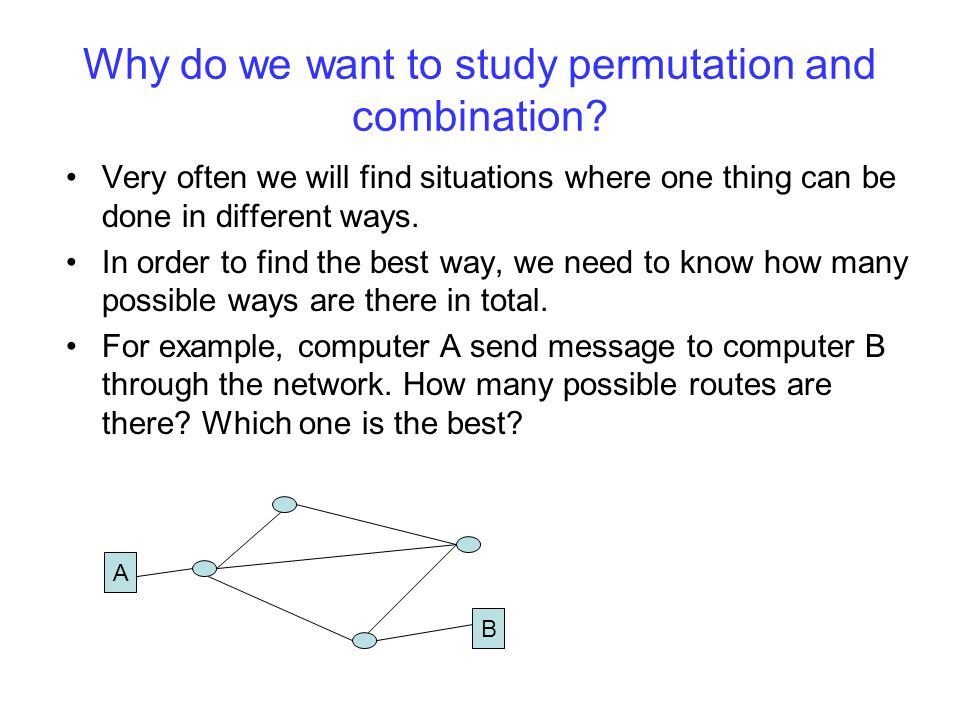 Why do we want to study permutation and combination