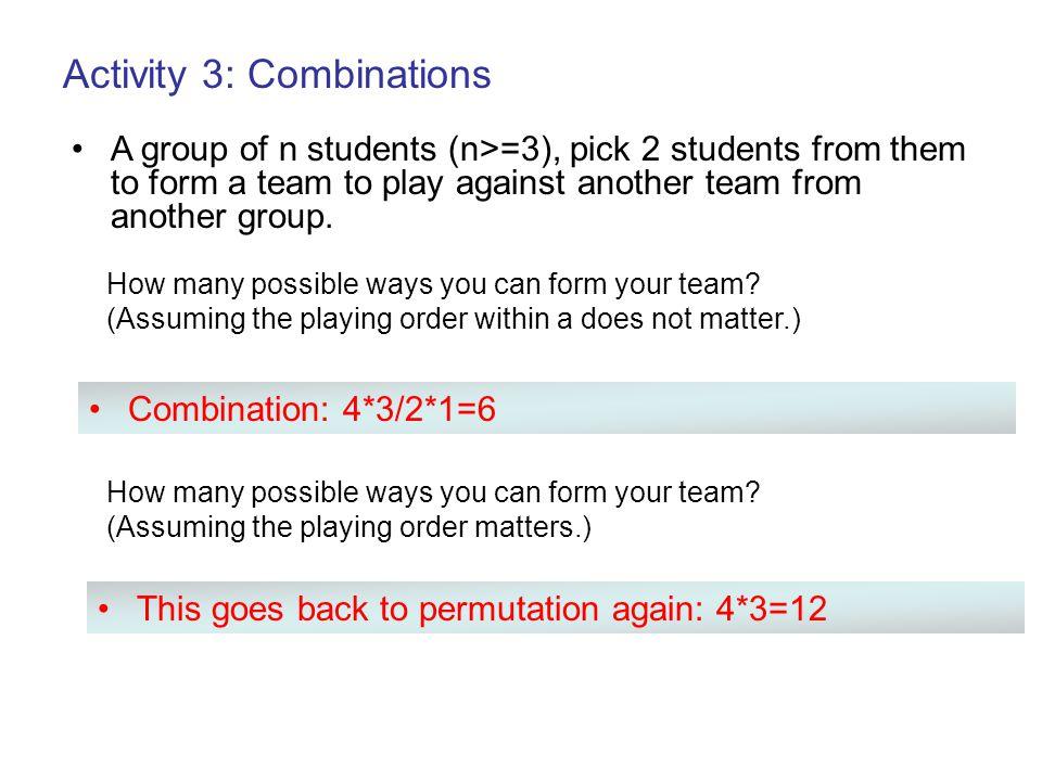 Activity 3: Combinations