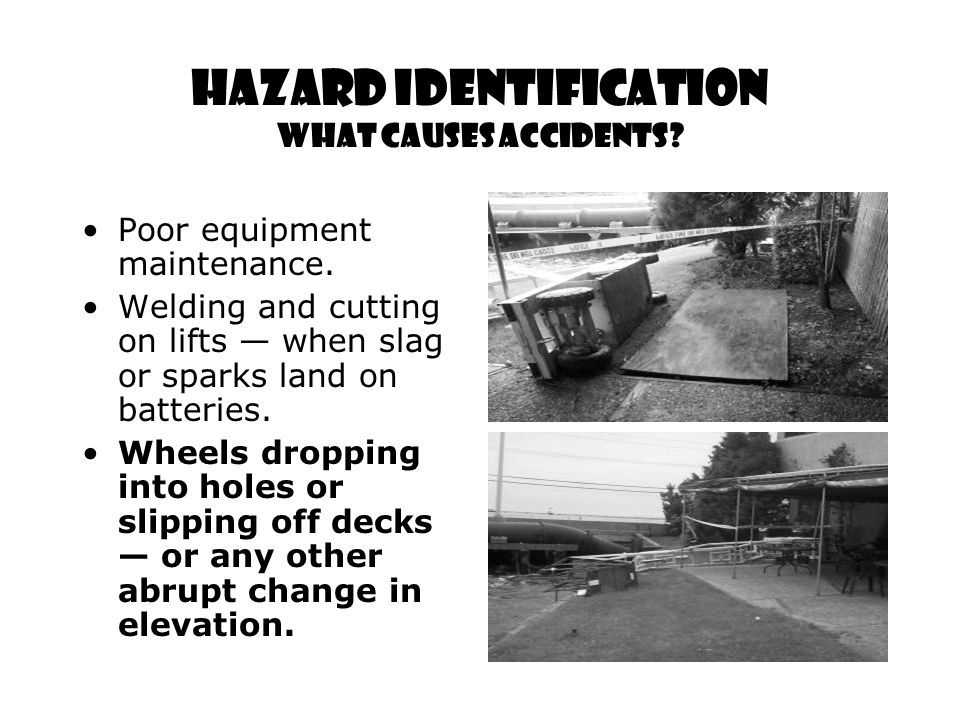 Hazard Identification What Causes Accidents