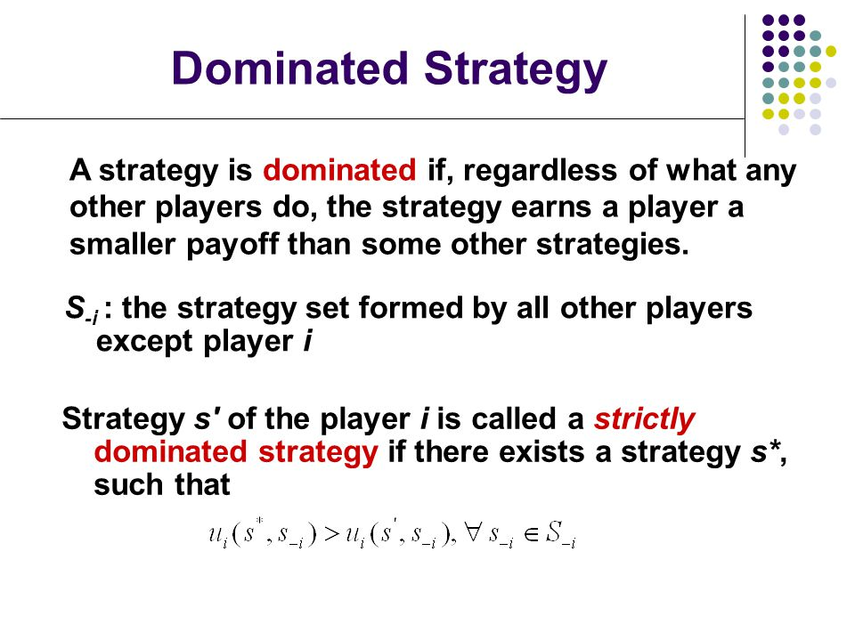 Dominated Strategy