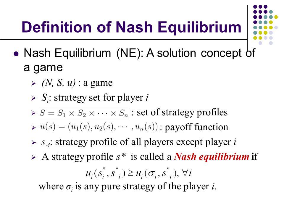 Definition of Nash Equilibrium