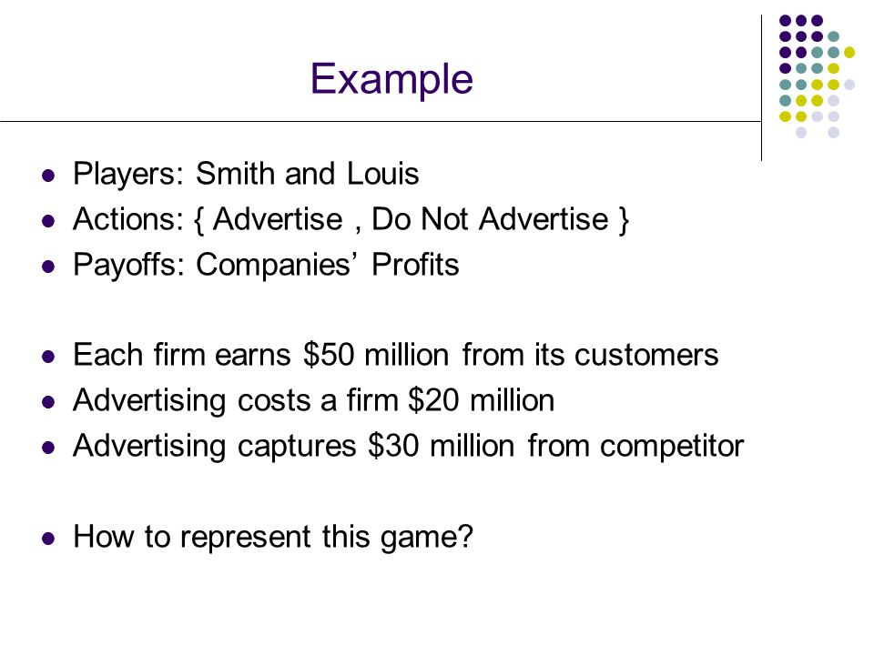 Example Players: Smith and Louis