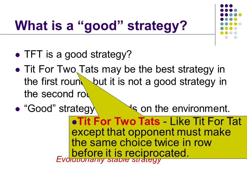 What is a good strategy