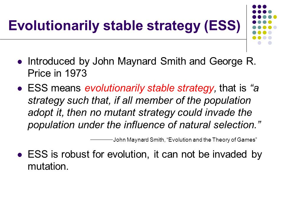 how to find evolutionary stable strategy