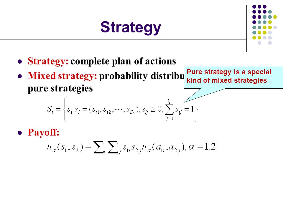 Strategy Strategy: complete plan of actions