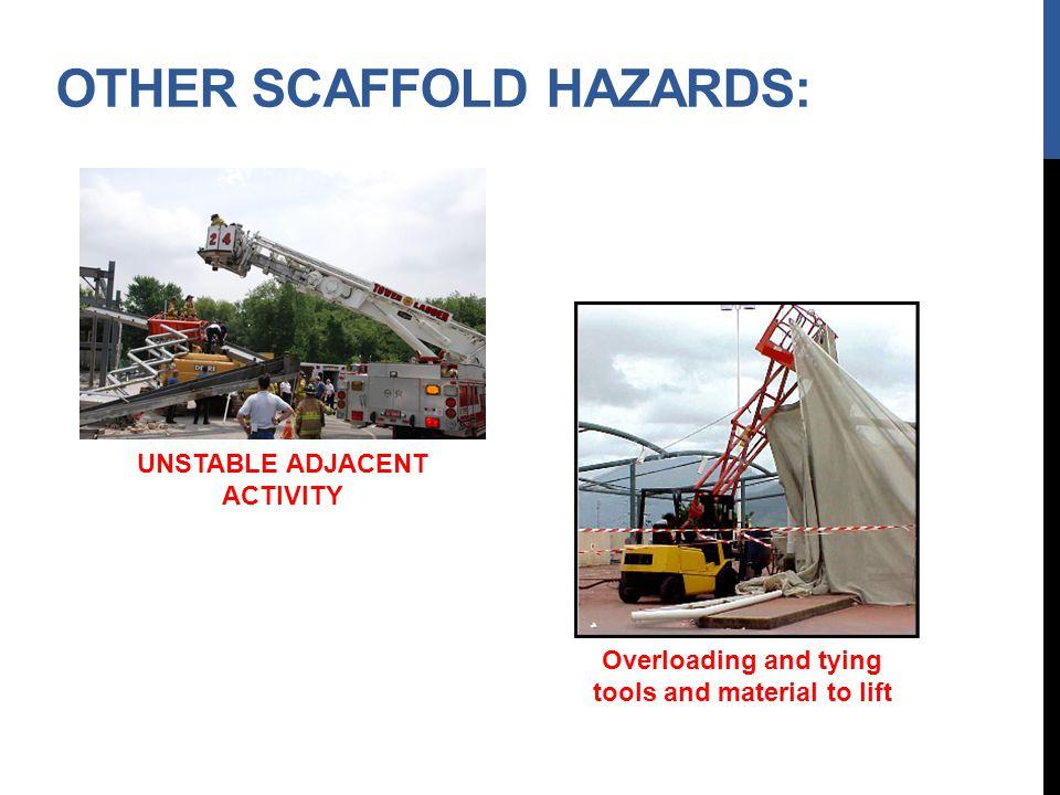 Other Scaffold Hazards: