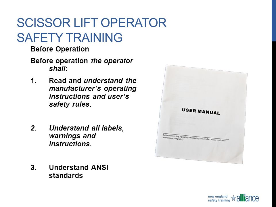 Scissor lift awareness stand down training may 4 10 ppt video online download for Scissor lift training video
