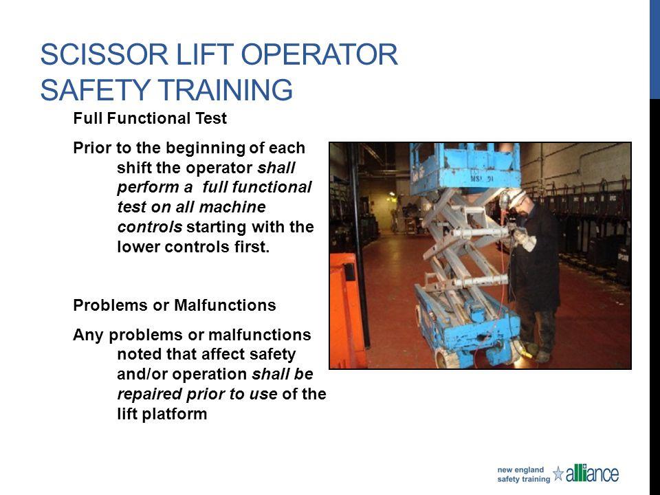 Scissor Lift Operator Safety Training