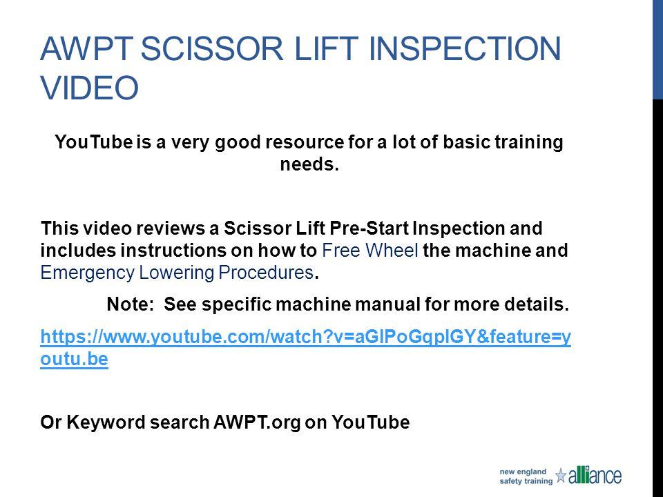 AWPT Scissor Lift Inspection Video