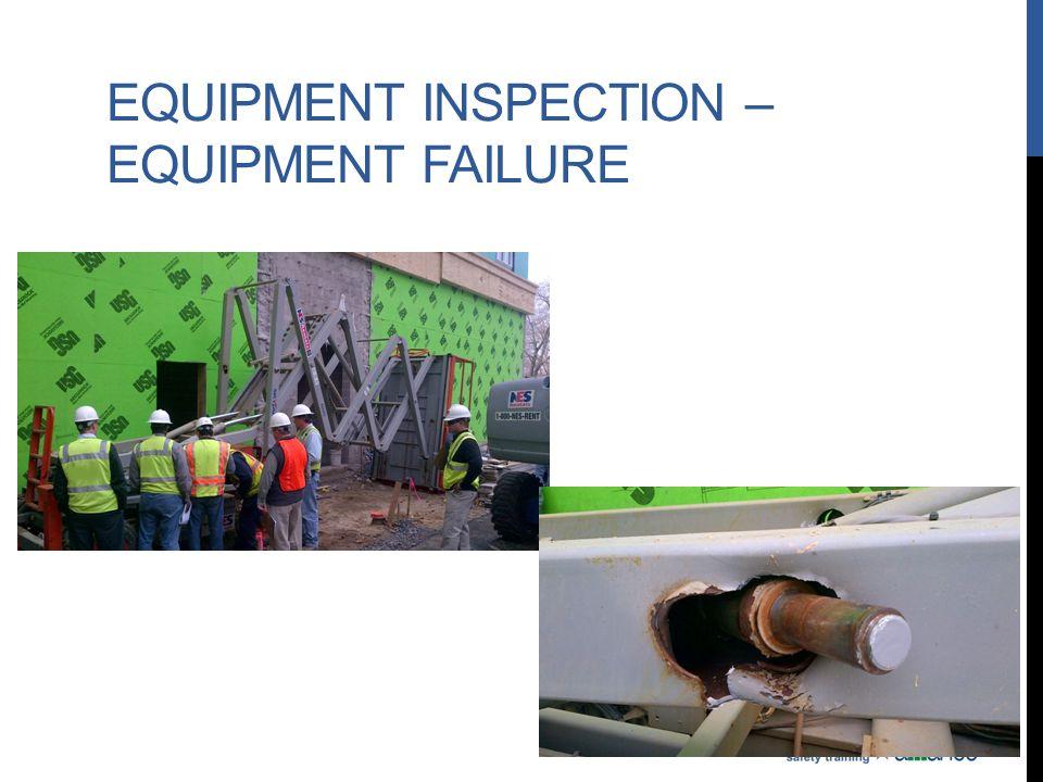 Equipment Inspection – Equipment Failure