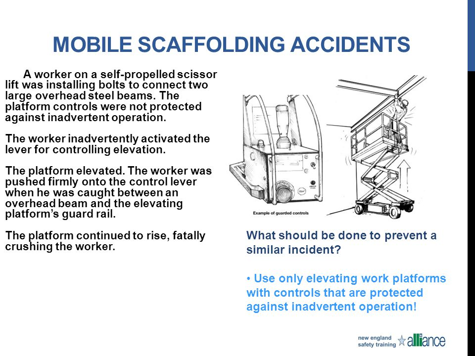 Mobile Scaffolding Accidents