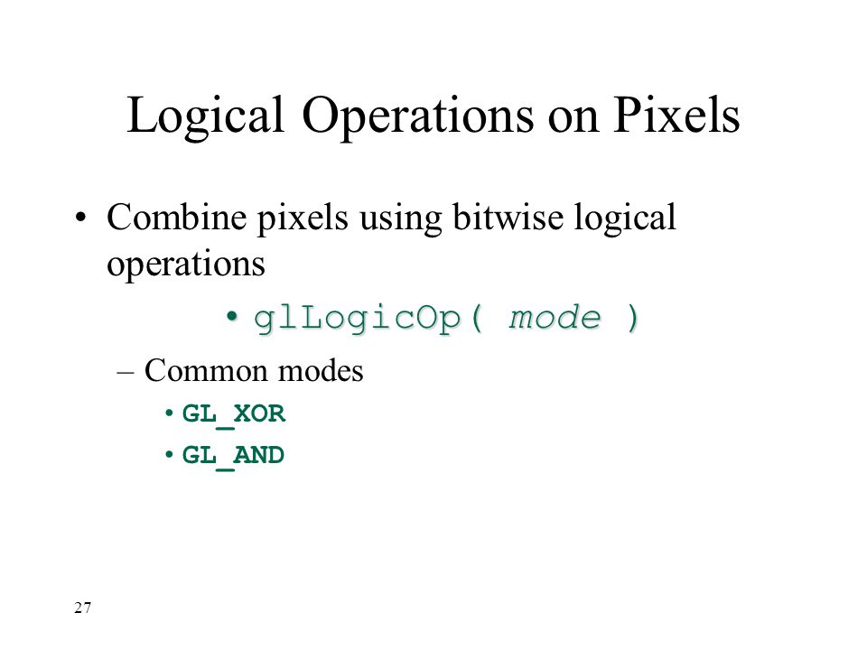 Logical Operations on Pixels