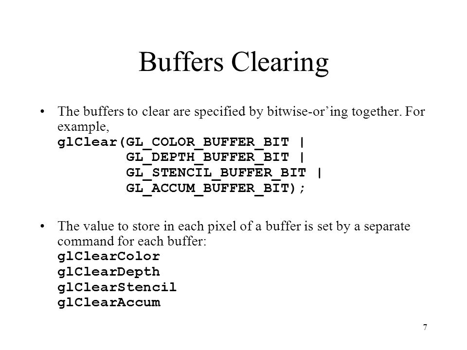 Buffers Clearing