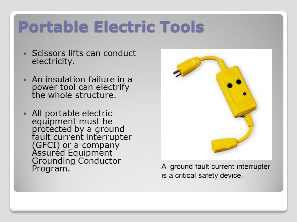 Portable Electric Tools