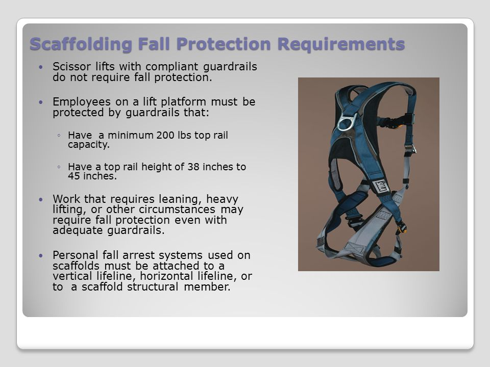 Scaffolding Fall Protection Requirements