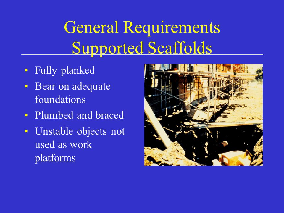 General Requirements Supported Scaffolds
