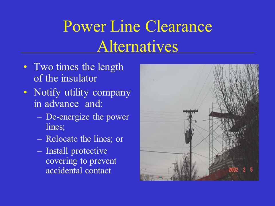 Power Line Clearance Alternatives
