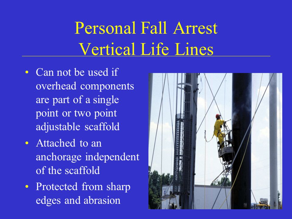 Personal Fall Arrest Vertical Life Lines