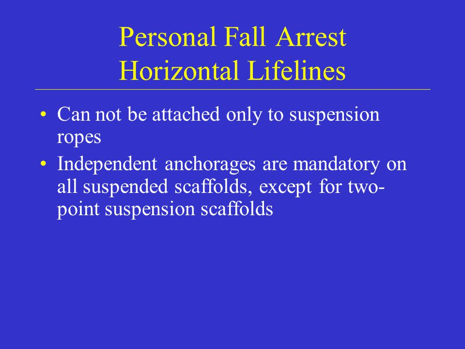 Personal Fall Arrest Horizontal Lifelines