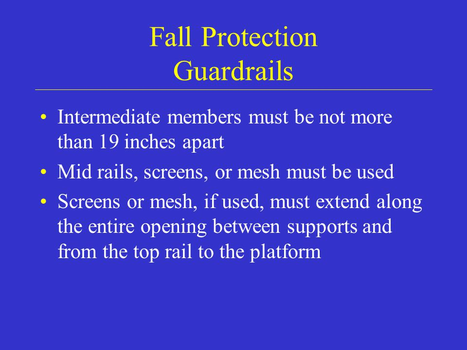 Fall Protection Guardrails