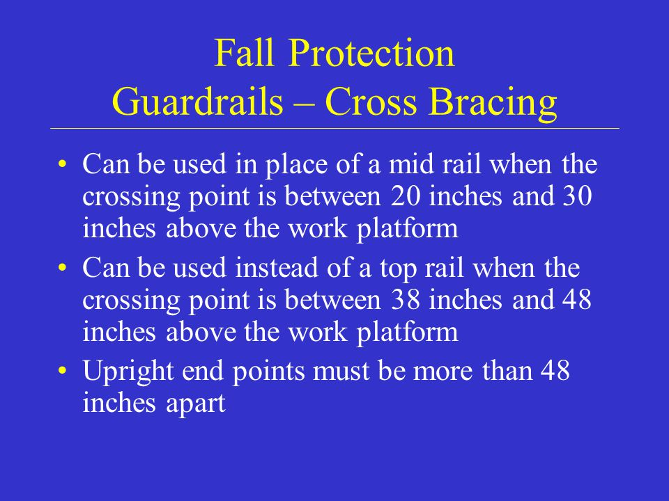 Fall Protection Guardrails – Cross Bracing