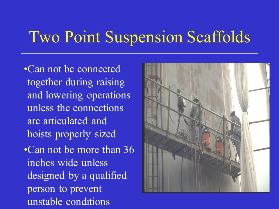 Two Point Suspension Scaffolds