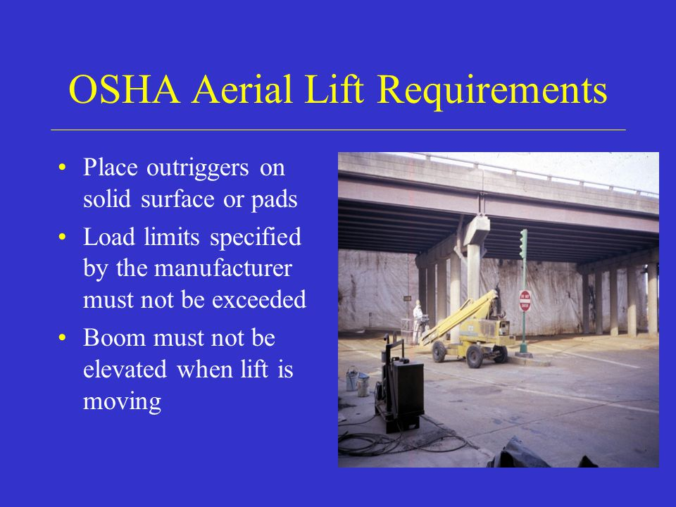 OSHA Aerial Lift Requirements