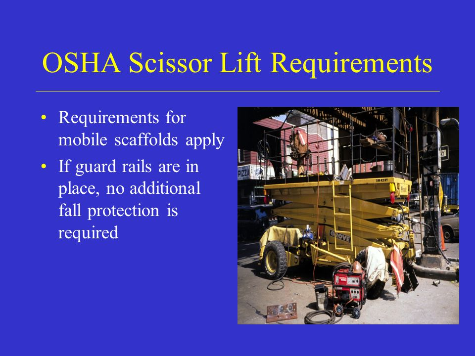 OSHA Scissor Lift Requirements