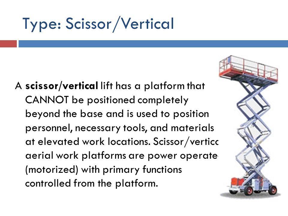 Type: Scissor/Vertical