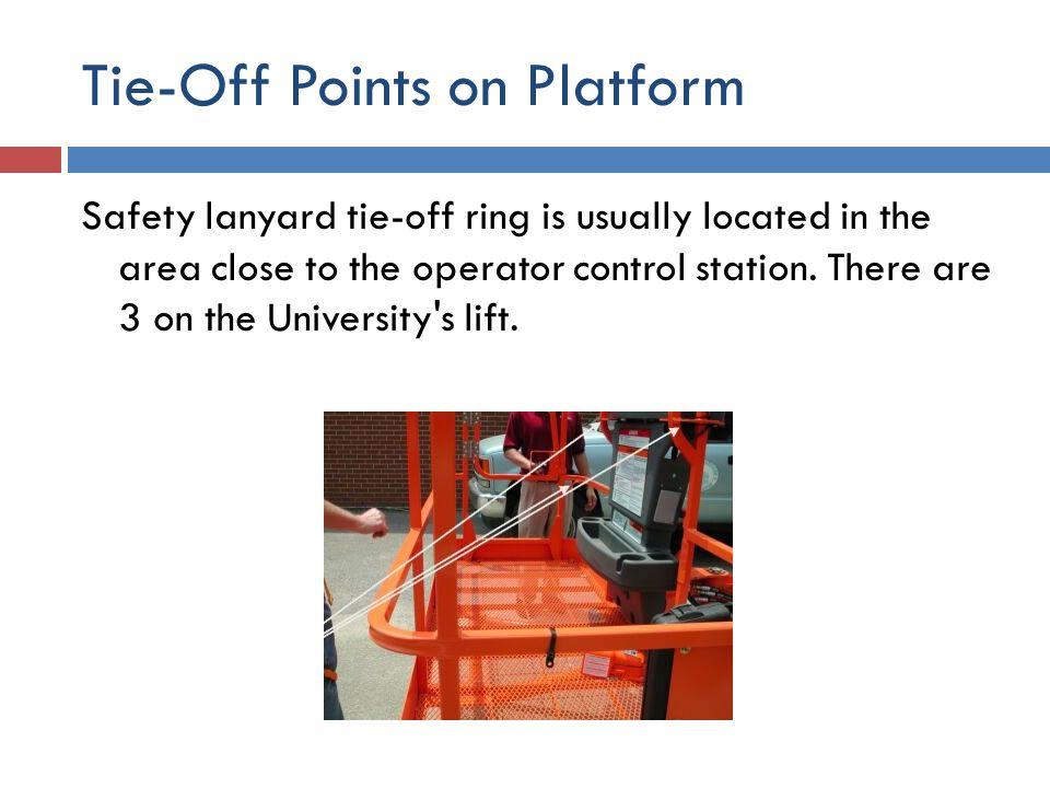 Tie-Off Points on Platform