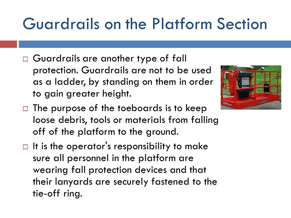 Guardrails on the Platform Section