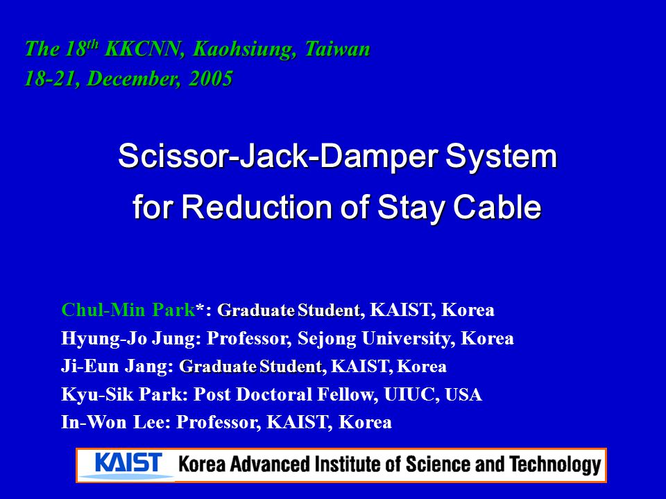 Scissor-Jack-Damper System for Reduction of Stay Cable