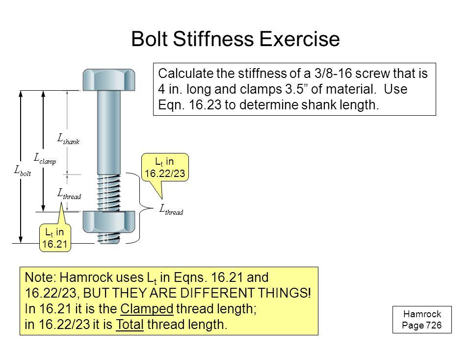Bolt Stiffness Exercise