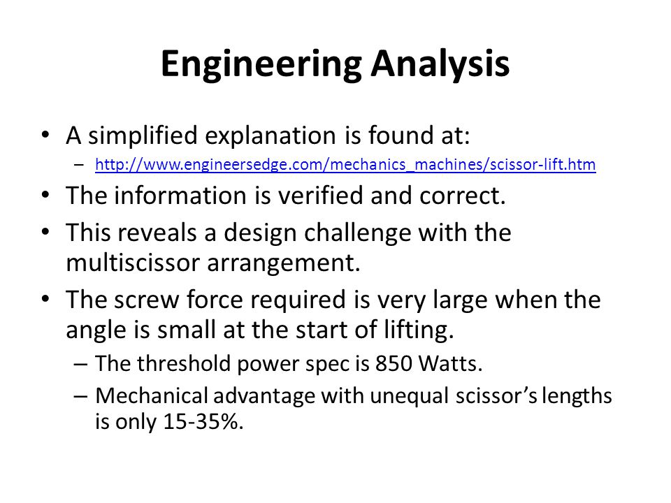 Engineering Analysis A simplified explanation is found at: