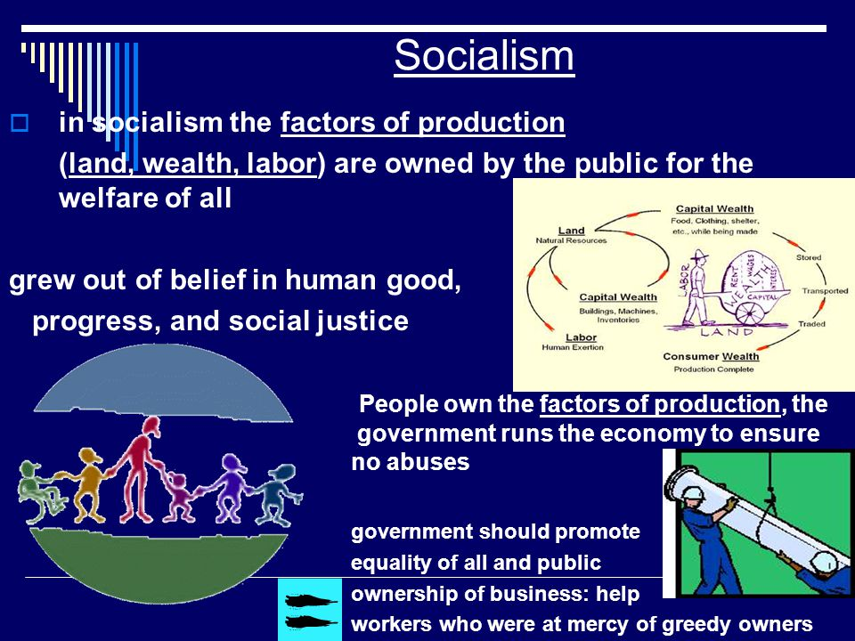 Socialism in socialism the factors of production