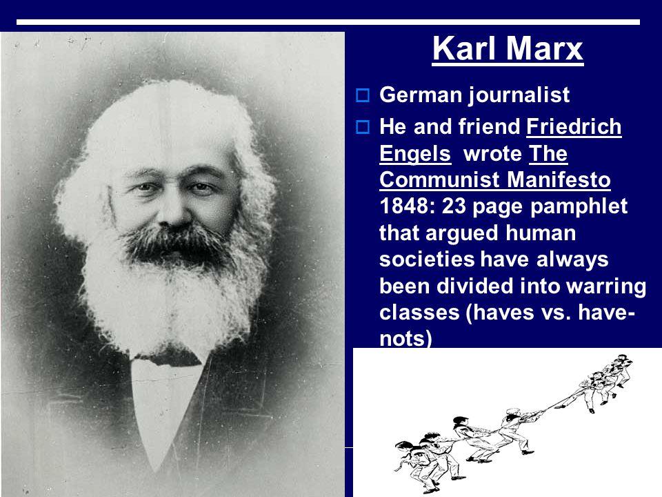 Karl Marx German journalist