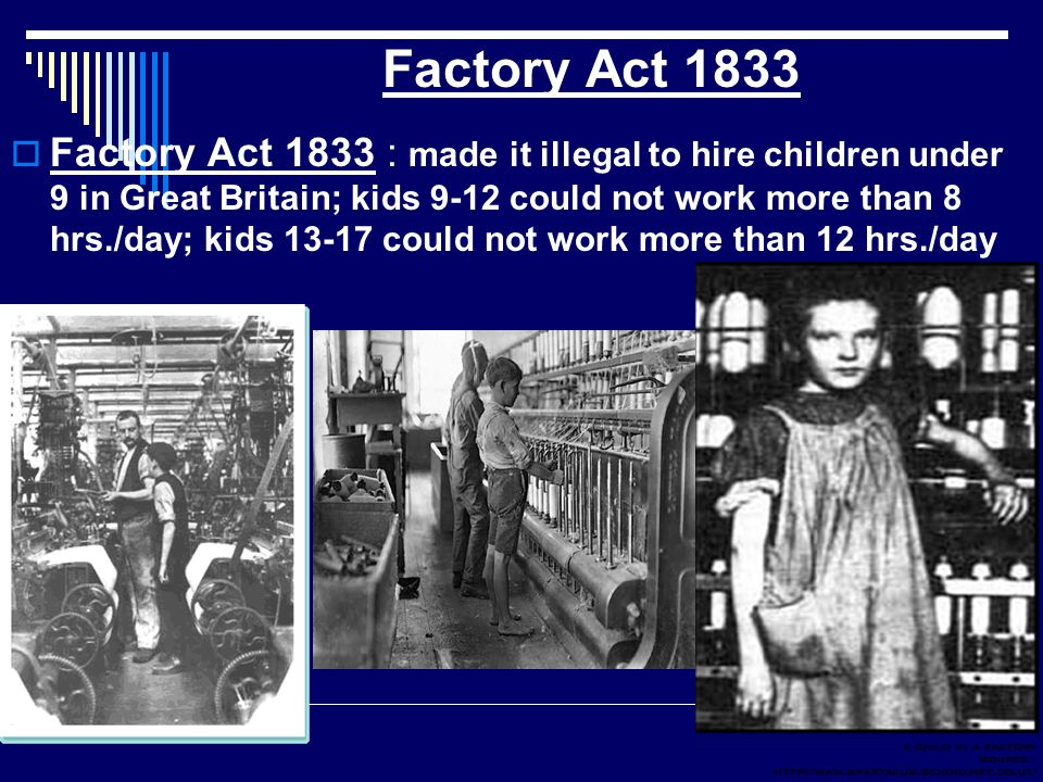 Factory Act 1833