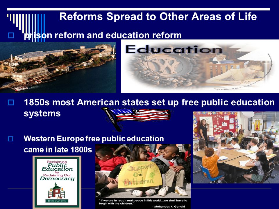 Reforms Spread to Other Areas of Life