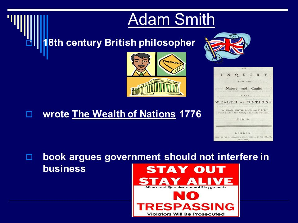 Adam Smith 18th century British philosopher