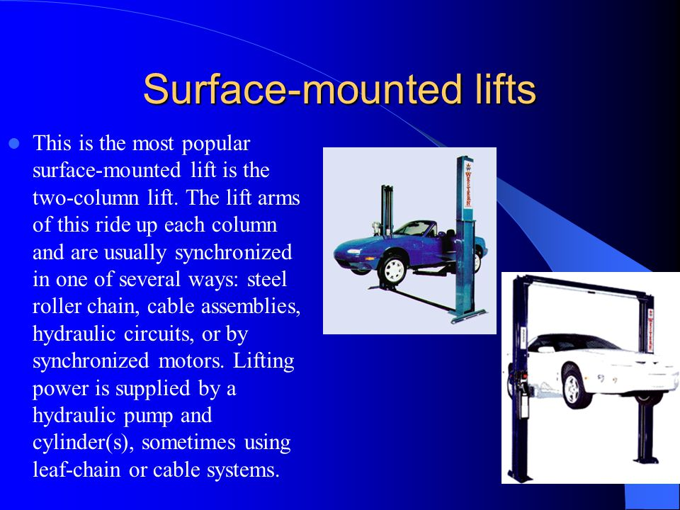 Surface-mounted lifts