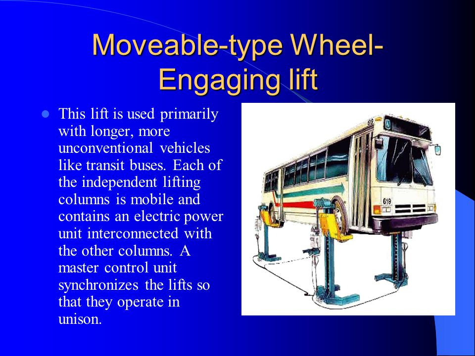Moveable-type Wheel-Engaging lift