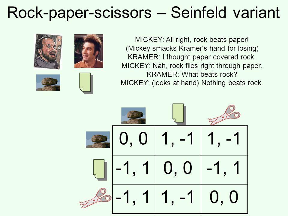 Rock-paper-scissors – Seinfeld variant